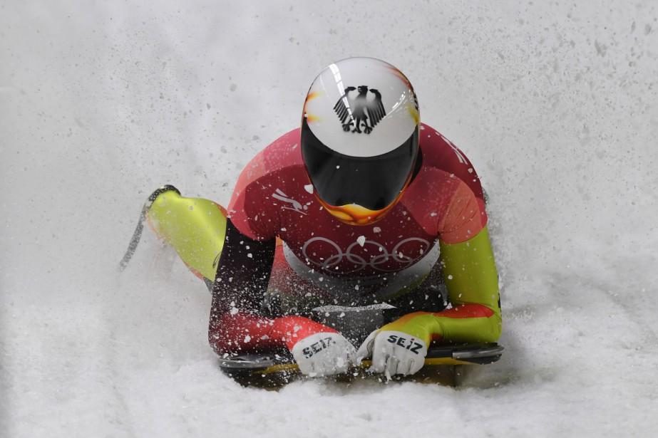 Jacqueline Loelling mène l'épreuve du skeleton à l'issue... (Photo Mark Ralston, Agence France-Presse)