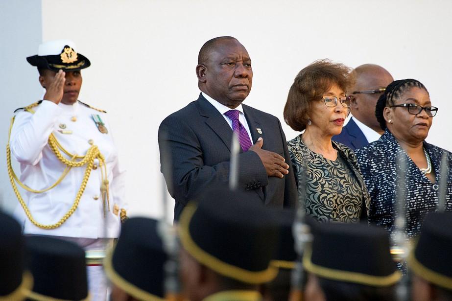 Le nouveau président sud-africain Cyril Ramaphosa a pris... (PHOTO RODGER BOSCH, REUTERS)