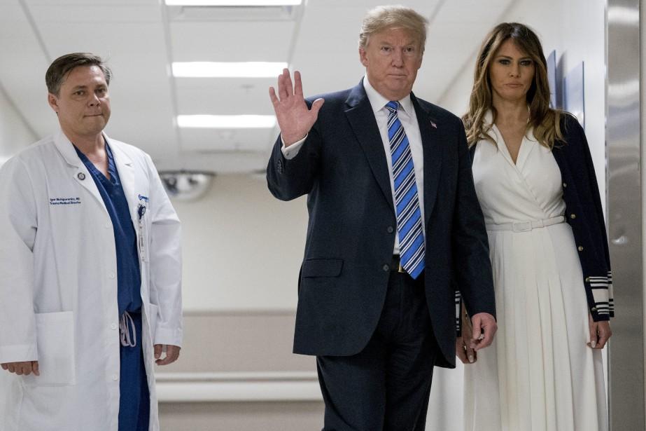 Donald et Melania Trump.... (AP)