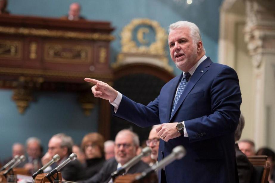«Philippe Couillard nous invite à nous réjouir du... (Photo La Presse canadienne)