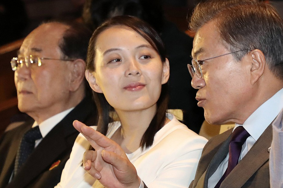 Kim Yo-jong, la soeur Kim Jong-un, a formellement... (PHOTO BEE JAE-MAN, ARCHIVES YONHAP VIA AP)