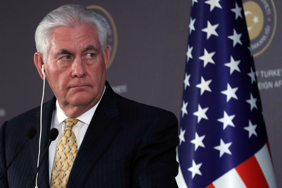 Le secrétaire d'État américain, Rex Tillerson... (PHOTO ADEM ALTAN, AFP)