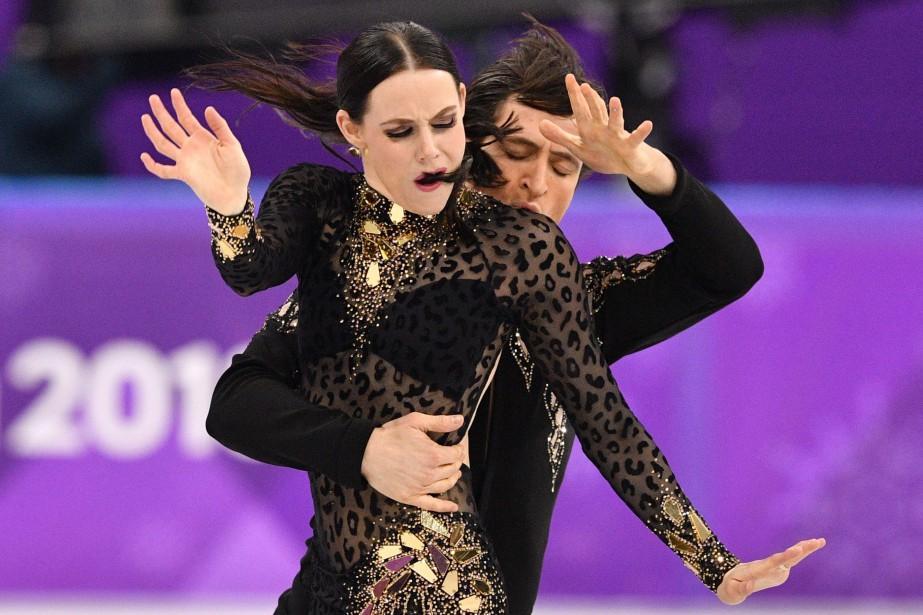 Les triples champions du monde Tessa Virtue et... (Photo Mladen Antonov, Agence France-Presse)