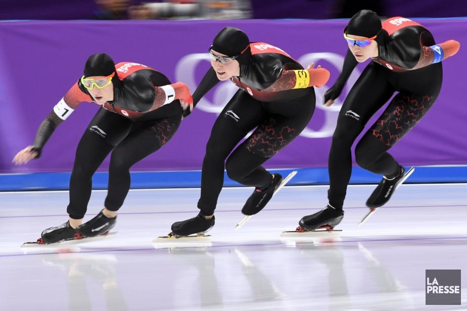 Ivanie Blondin, d'Ottawa, Josie Morrison, de Kamloops en... (Photo Bernard Brault, La Presse)