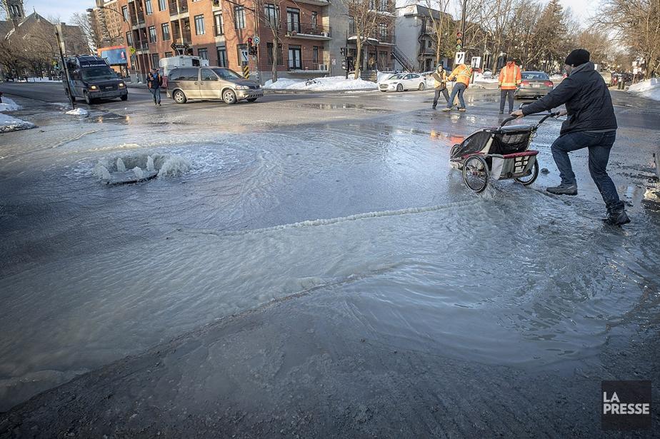 Un bris d'aqueduc a forcé la fermeture de... (Patrick Sanfaçon, La Presse)