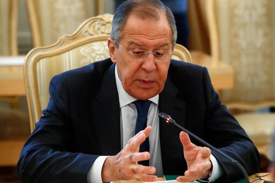 Le ministre russe des Affaires étrangères, Sergueï Lavrov,... (PHOTO SERGEI KARPUKHIN, REUTERS)