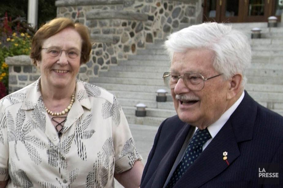 Andrée Gérin-Lajoie et son époux, photographiés en septembre... (ROBERT SKINNER, ARCHIVES LA PRESSE)
