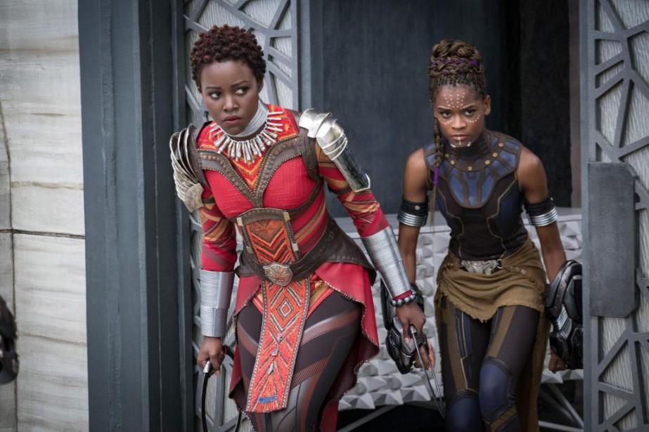 Lupita Nyong'o et Letitia Wright.... (Photo Matt Kennedy, Marvel Studios-Disney via AP)