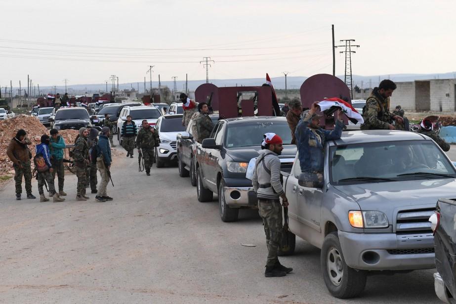 L'arrivée des forces pro-régime (photo) dans une région... (AFP)