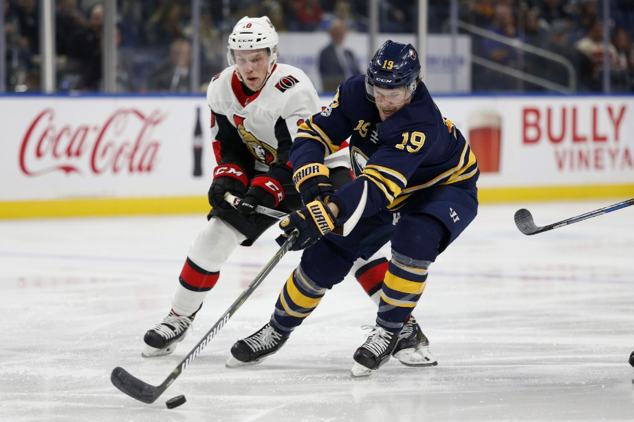 Jake McCabe (19)... (Photo Timothy T. Ludwig, USA TODAY Sports)