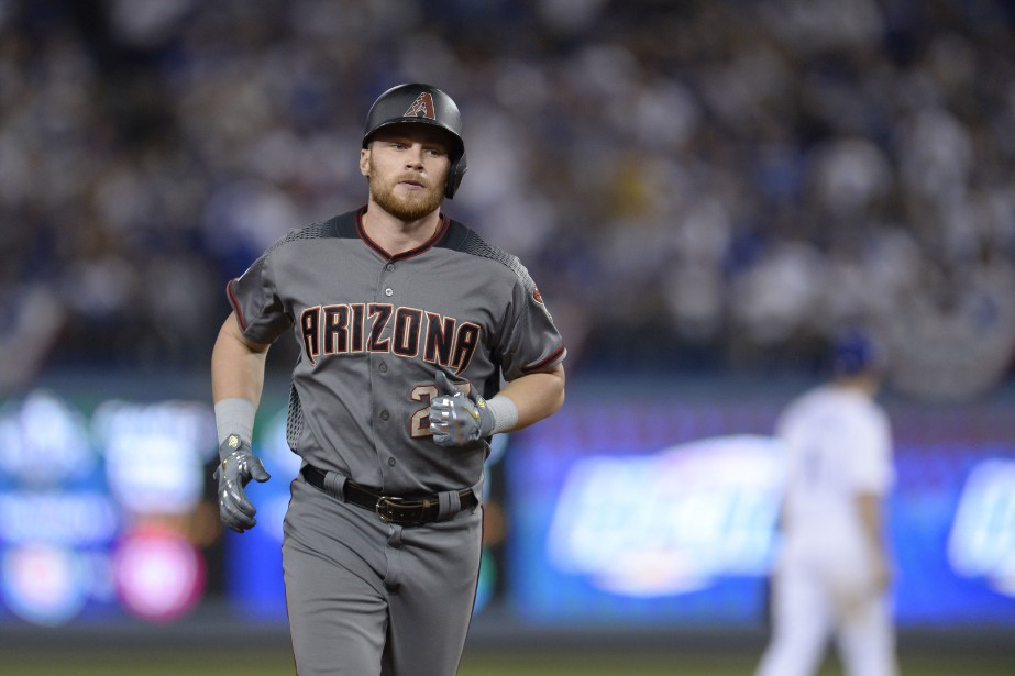 Brandon Drury (27), la nouvelle acquisition des Yankees... (Photo Gary A. Vasquez, USA TODAY Sports)