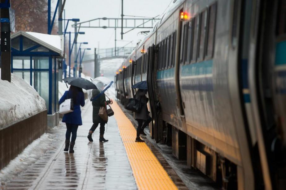 Depuis le début de 2018, les trains du... (Photo Martin Chamberland, Archives La Presse)