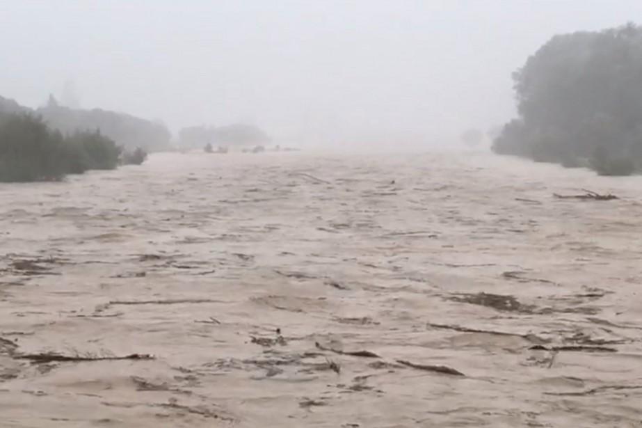 La rivière Motueka après le passage du cyclone,... (Photo REUTERS)