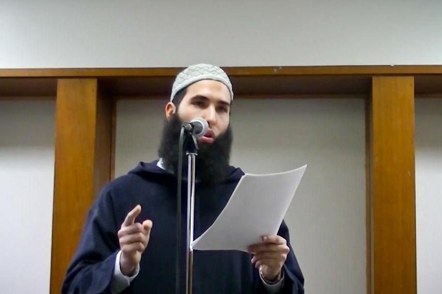 L'imam Hamza Chaoui... (Image tirée d'une vidéo YouTube)