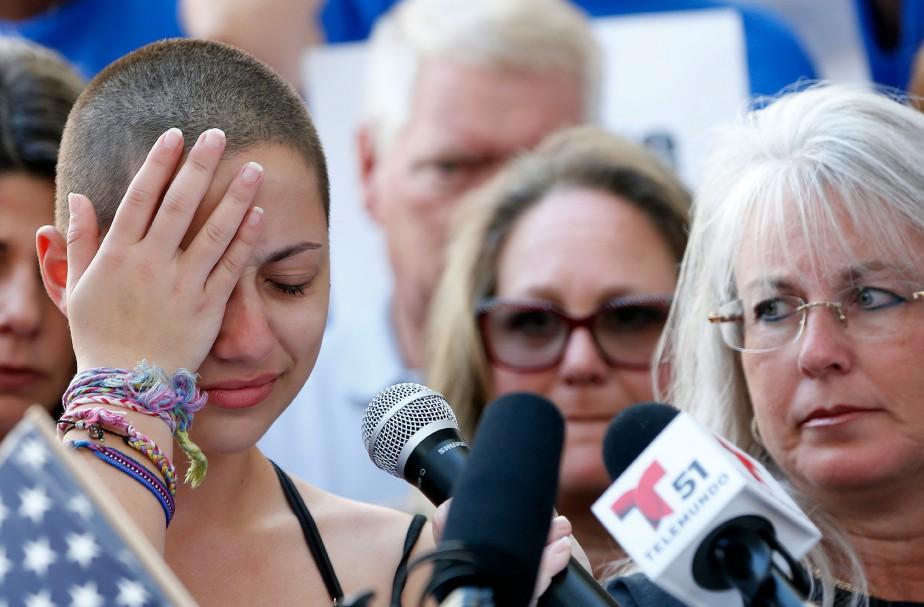 Emma Gonzalez a prononcé samedi un vibrant discours... (PHOTO AFP)