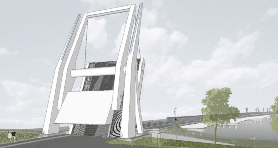 Esquisse du projet du pont Gouin à Saint-Jean-sur-Richelieu. | 21 février 2018