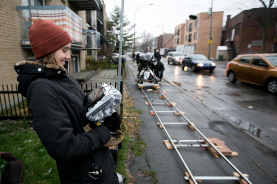 La réalisatrice Sophie Dupuis sur le plateau de... (Photo François Roy, archives La Presse)