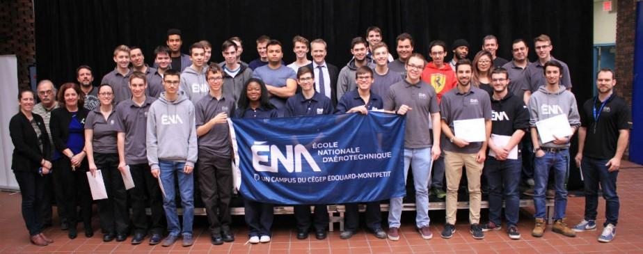 Le 14 février dernier, l'École nationale d'aérotechnique (ENA)... (Photo fournie par l'ENA)