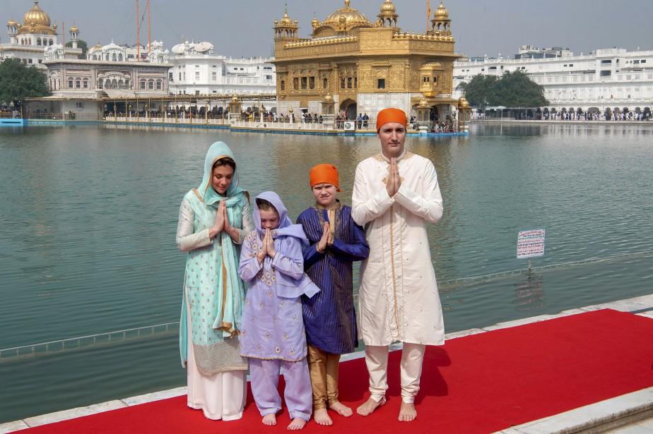 Justin Trudeau et sa famille ont notamment visité... (PHOTO AP)