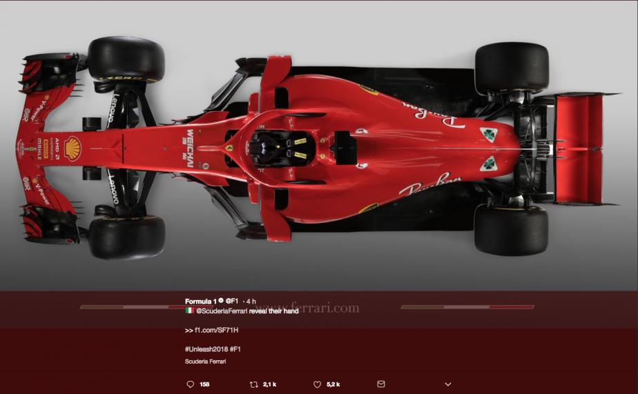 La nouvelle Ferrari SF71H. | 22 février 2018