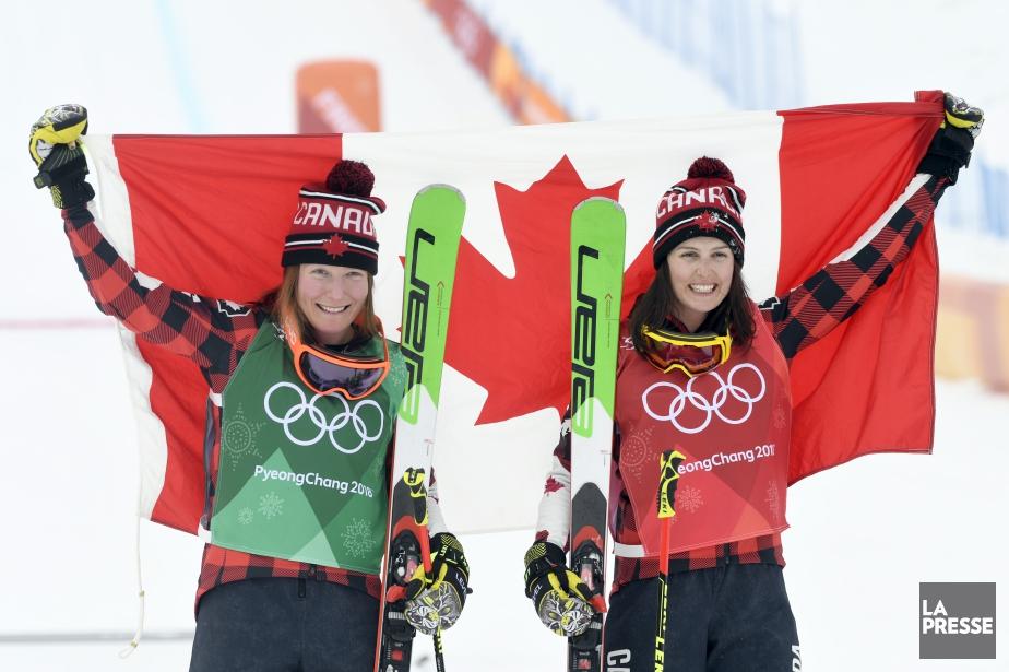 Brittany Phelan (à gauche) a remporté la médaille... (Photo Bernard Brault, La Presse)