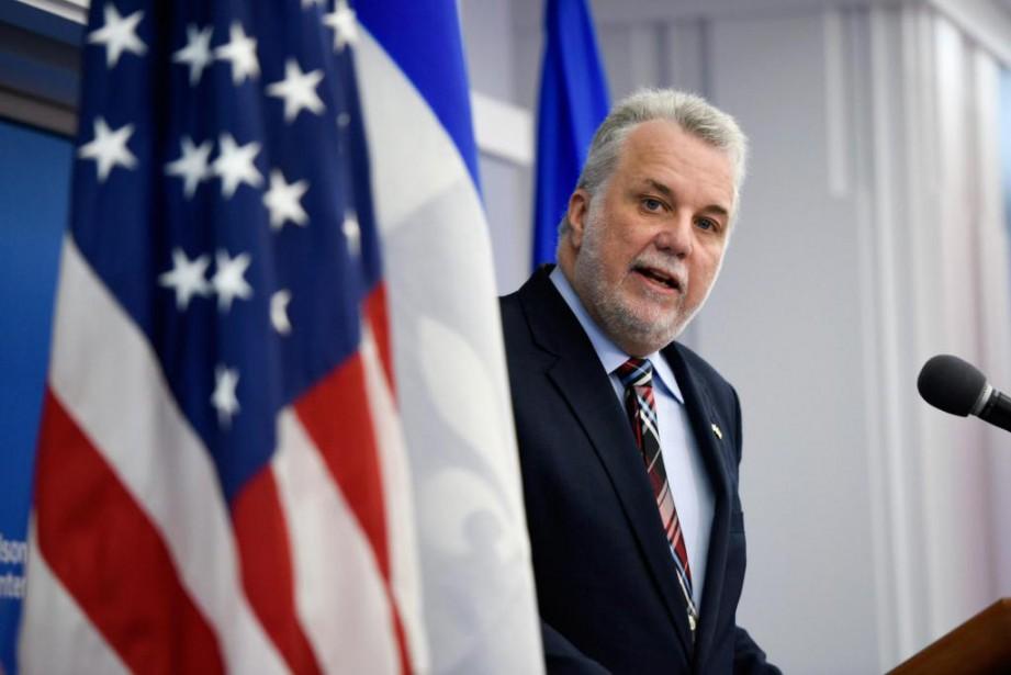 Le premier ministre Philippe Couillard a pris la... (PhotoSait Serkan Gurbuz, Associated Press)