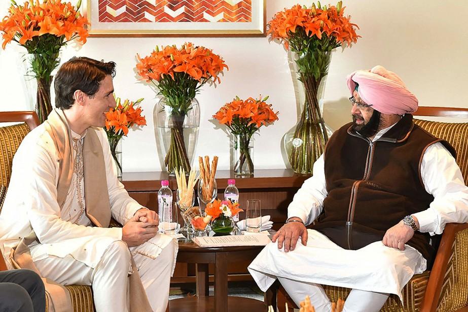 Justin Trudeau a été reçu, mercredi, par le... (Amritsar District Public Relations Officer VIA AFP)