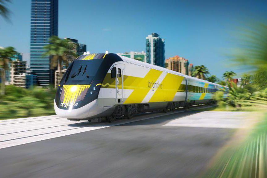 La ligne ferroviaire Brightline transportera les passagers entre... (ILLUSTRATION FOURNIE PAR BRIGHTLINE)