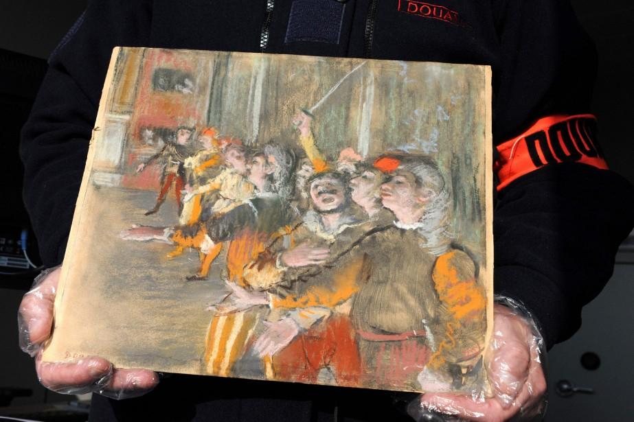 Le tableau de DegasLes Choristes, qui représente une... (Photo AFP)
