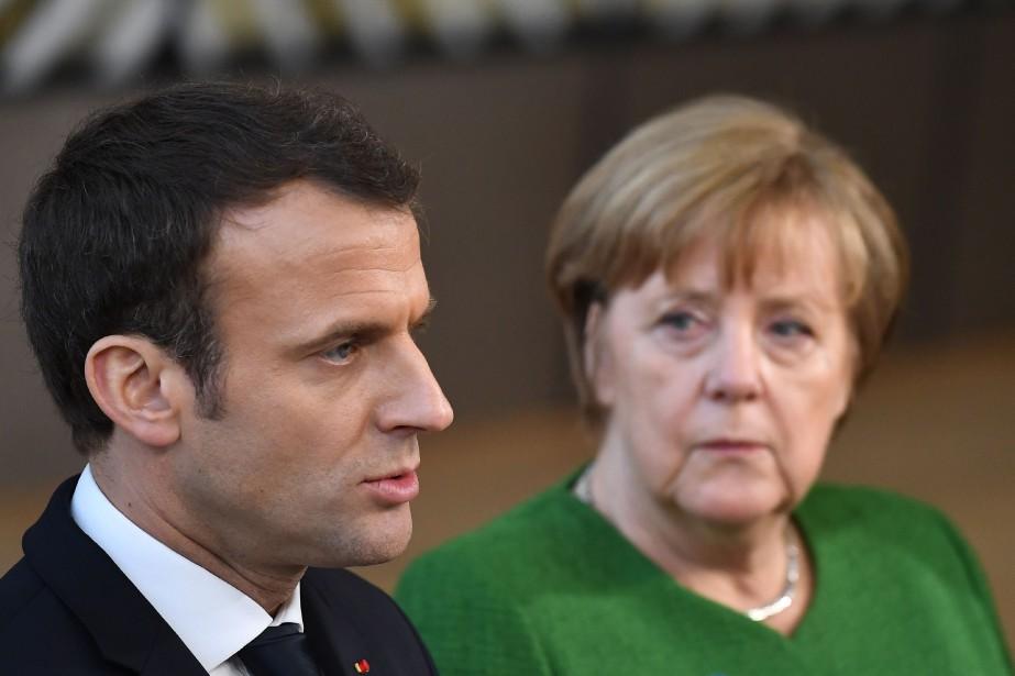 Emmanuel Macron et Angela Merkel.... (AFP)