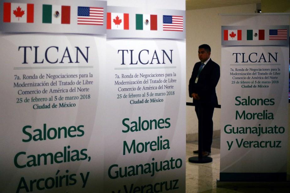 Le Canada, le Mexique et lesÉtats-Unisdoivent discuter jusqu'au... (PHOTO EDGARD GARRIDO, REUTERS)