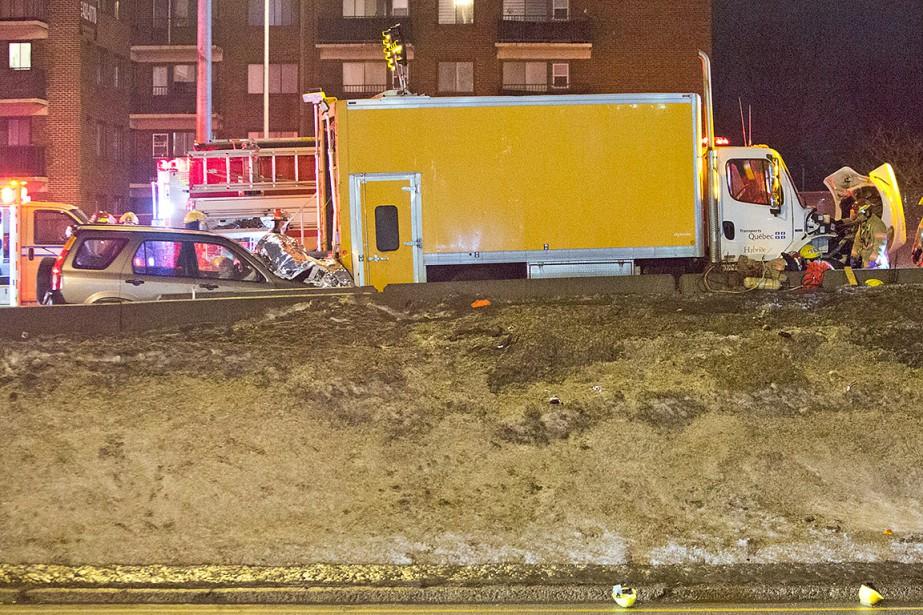 L'accident a coûté la vie à un travailleur,... (Photo Félix O.J. Fournier, collaboration spéciale)