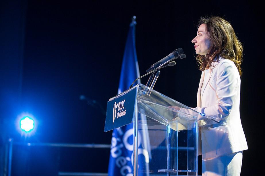 Martine Ouellet a été couronnée chef du Bloc... (Simon