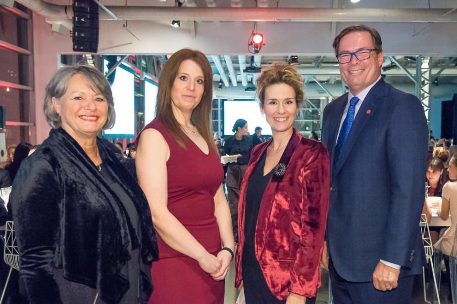 De gauche à droite: Jocelyne Houle, Isabel Dansereau,... (Photo fournie par la Fondation)
