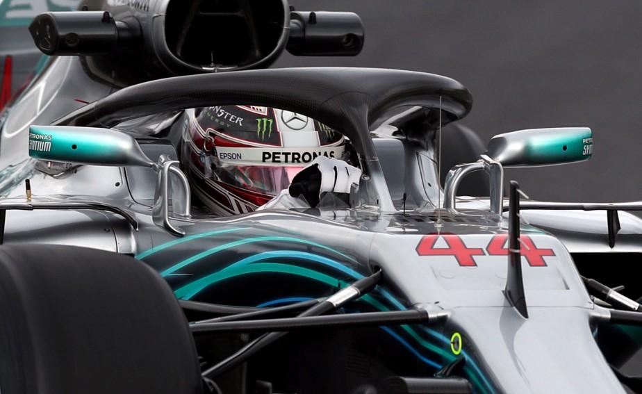 Le champion du monde Lewis Hamilton lors des essais hivernaux. | 26 février 2018