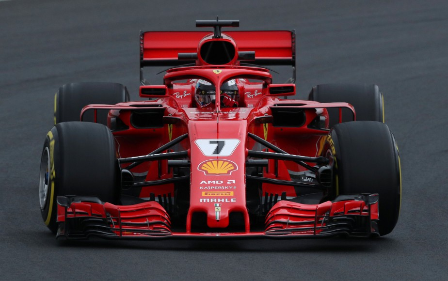 Le Finlandais Kimi Raikkonen, de Ferrari, a inscrit le 3e meilleur chrono. | 26 février 2018
