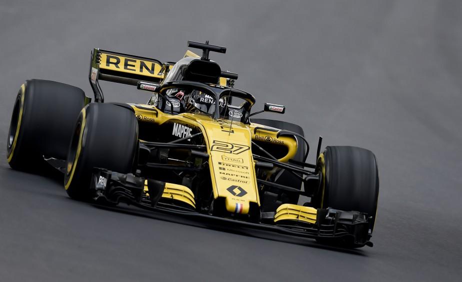 L'Allemand Nico Hulkenberg, au volant de sa Renault, a inscrit le 4e chrono des essais de lundi. | 26 février 2018