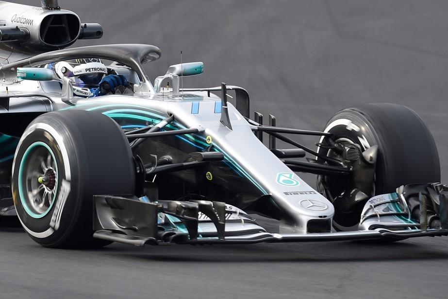 Valtteri Bottas au volant de sa Mercedes. | 27 février 2018