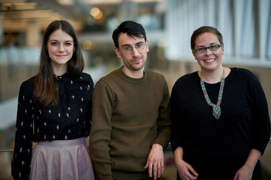 Amélie Hébert, Laurent Lussier etNoémie Pomerleau-Cloutier parlent tous... (photo andré pichette, la presse)