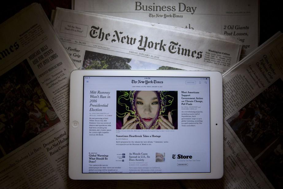 L'émission préparée par le New York Times sera... (Photo Andrew Harrer, Bloomberg)