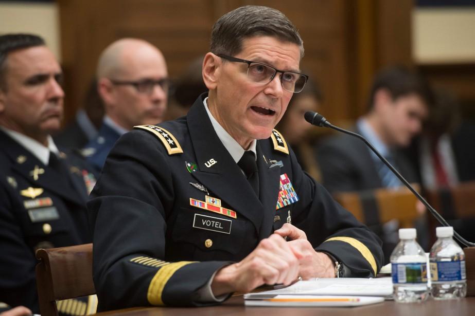 Le général Joseph Votel témoignait mardi devant une... (PHOTO AFP)
