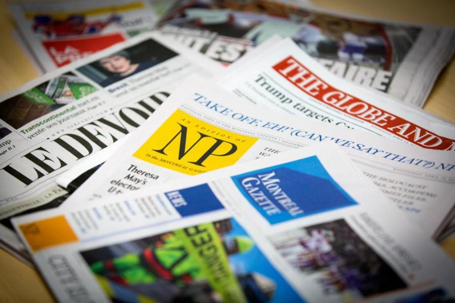 Les médias traditionnels qui luttent pour leur survie... (Photo Olivier Jean, Archives La Presse)