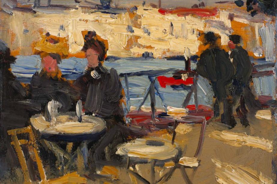 La terrasse du café, Saint-Cloud, vers 1909, James... (Photo MBAC, fournie par le Musée des beaux-arts du Canada)