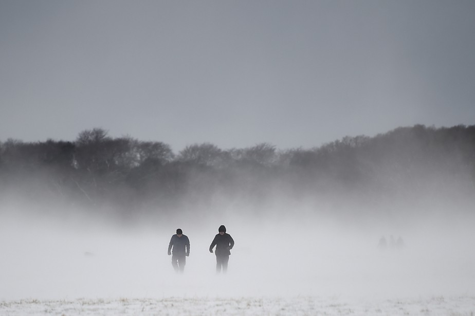 Promenade enneigée dansPhoenix Park, jeudi à Dublin.... (PHOTO REUTERS)