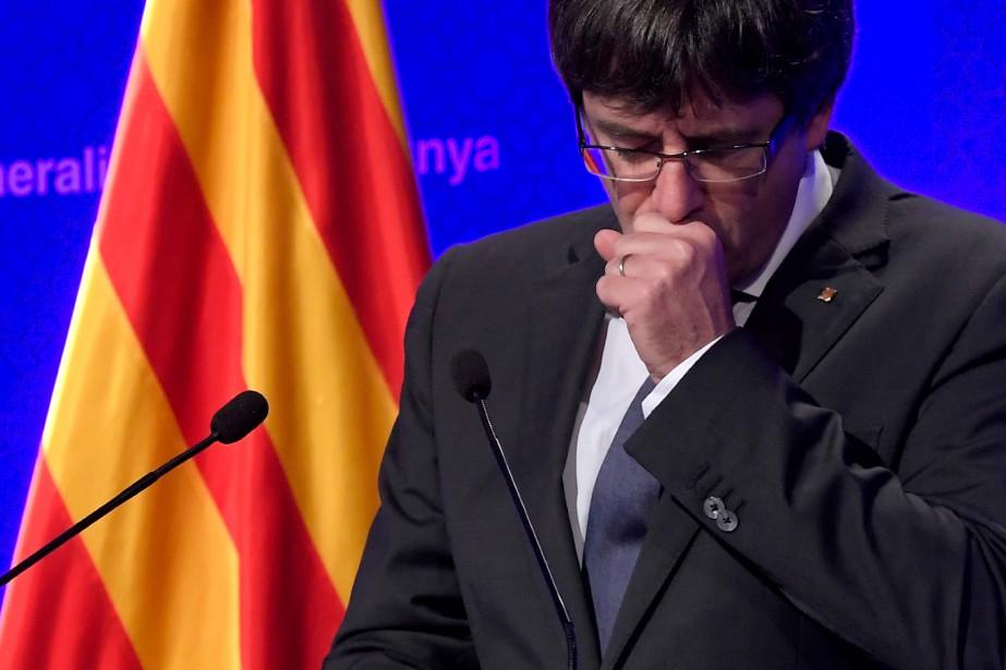 Carles Puigdemont a proposé pour le remplacer la... (PHOTO AFP)