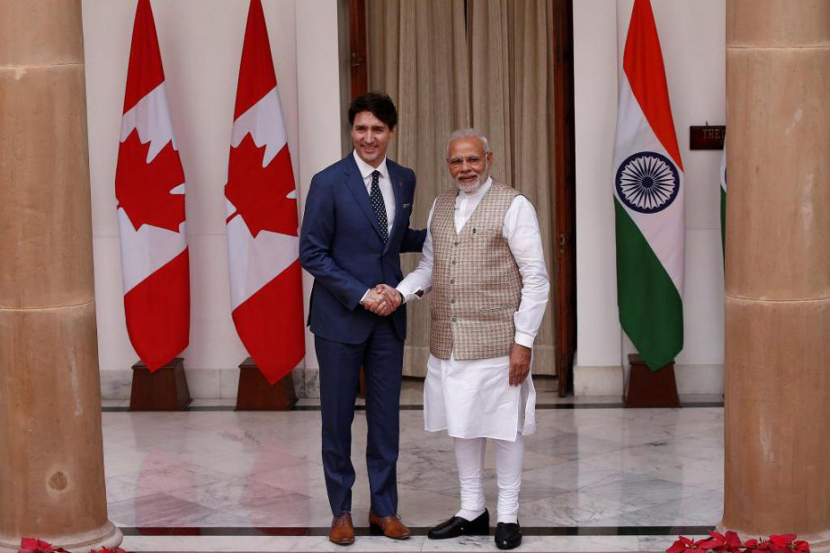 Le premier ministre du Canada, Justin Trudeau, et... (PHOTOADNAN ABIDI, ARCHIVES REUTERS)