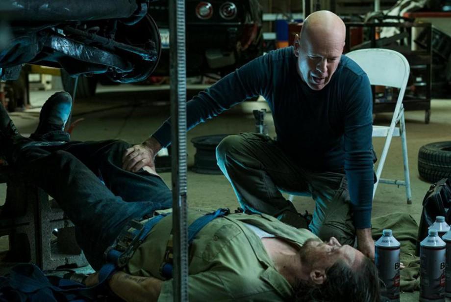 Bruce Willis et Ronnie Gene Blevins dans Death... (Photo fournie par Metro-Goldwyn-Mayer Pictures)