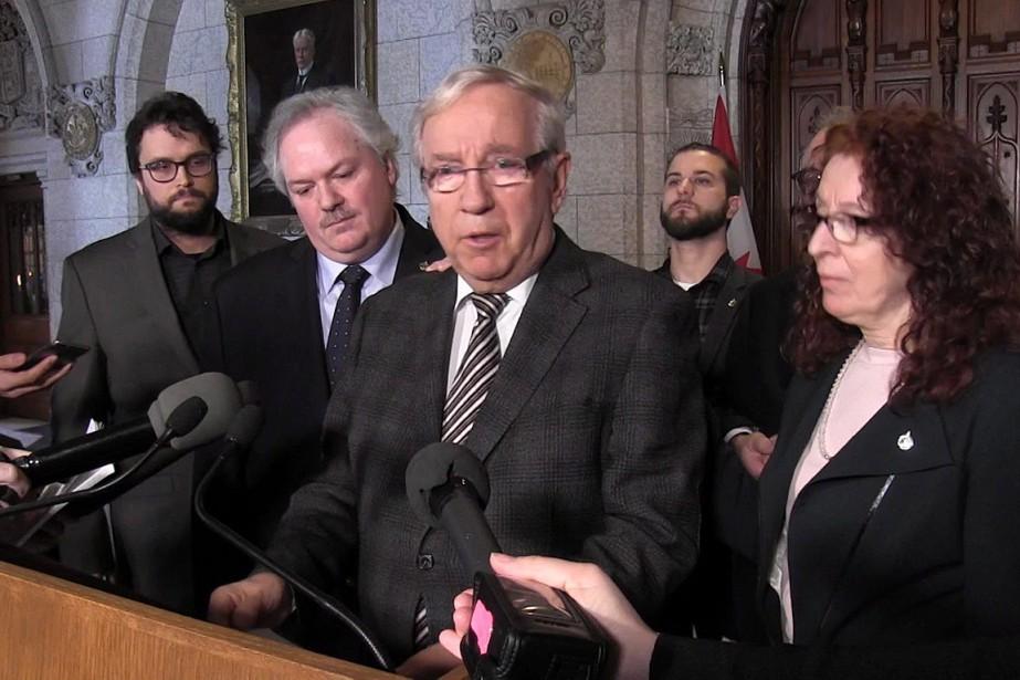 Dans cette image tirée d'une vidéo, le député... (PHOTO LA PRESSE CANADIENNE)