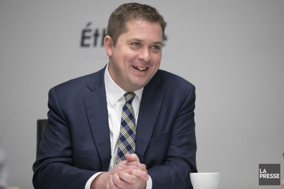 Le chef du Parti conservateur du Canada, Andrew... (PHOTO DAVID BOILY, LA PRESSE)