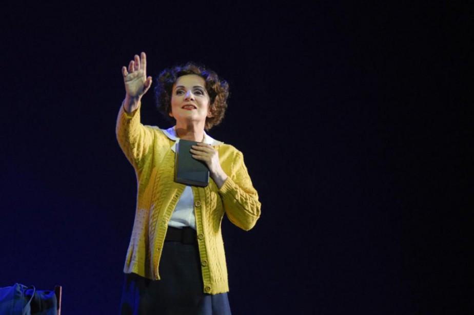 Marie-Thérèse Fortin dans La détresse et l'enchantement... (Photo Yves Renaud, fournie par le Théâtre du Nouveau Monde)